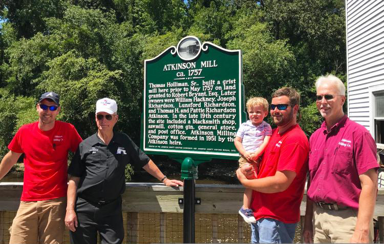 Historic Marker dedication at Atkinson's Mill with the Wheeler family.