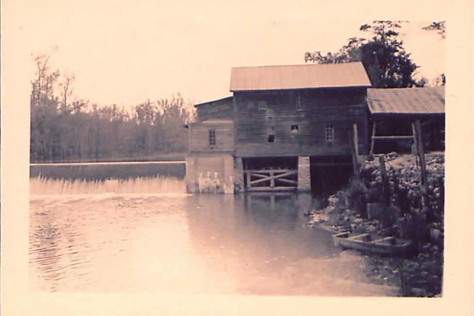 Historic photo of Atkinson's Mill which dates to 1757.