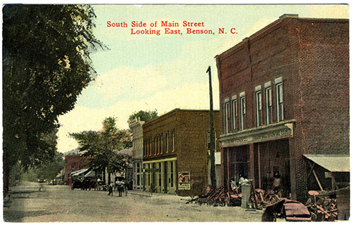 Historic Postcard of Benson, NC